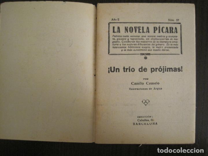 Libros antiguos: LA NOVELA PICARA-UN TRIO DE PROJIMAS-NUM·57-ILUSTRACIONES ARGUS-NOVELA EROTICA-VER FOTOS-(V-19.559) - Foto 2 - 201327365
