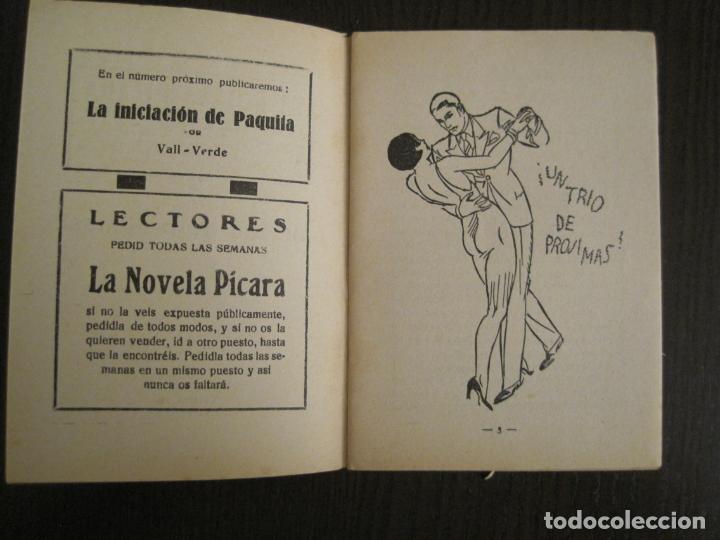 Libros antiguos: LA NOVELA PICARA-UN TRIO DE PROJIMAS-NUM·57-ILUSTRACIONES ARGUS-NOVELA EROTICA-VER FOTOS-(V-19.559) - Foto 3 - 201327365