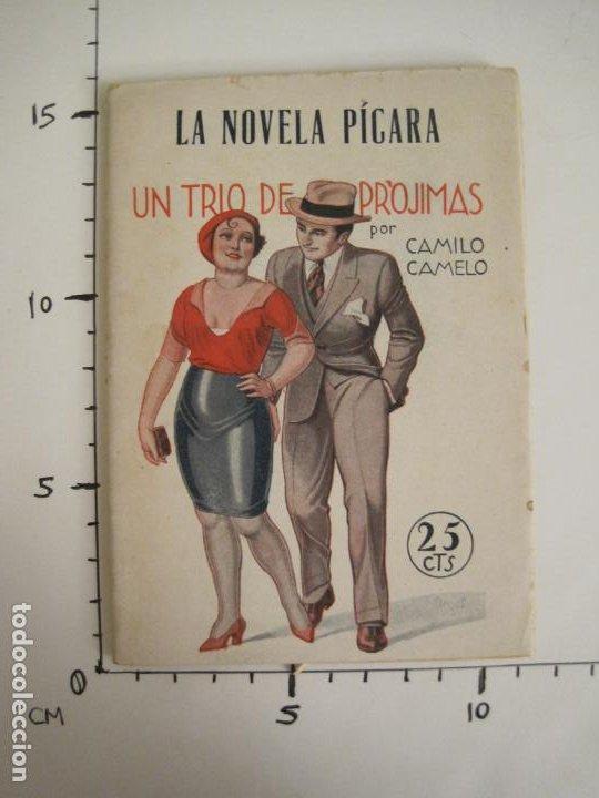 Libros antiguos: LA NOVELA PICARA-UN TRIO DE PROJIMAS-NUM·57-ILUSTRACIONES ARGUS-NOVELA EROTICA-VER FOTOS-(V-19.559) - Foto 9 - 201327365