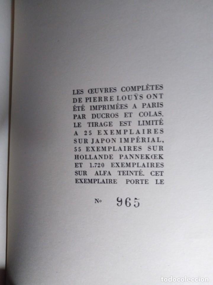 Libros antiguos: EROTICA PIERRE LOUYS POESIES EDITIONS MONTAIGNE PARIS 1930 ED NUMERADA GRABADOS VER FOTOS - Foto 5 - 203027956