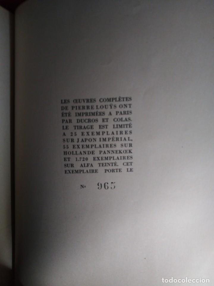 Libros antiguos: EROTICA PIERRE LOUYS POETIQUE EDITIONS MONTAIGNE PARIS 1930 ED NUMERADA GRABADOS VER FOTOS - Foto 4 - 203029208