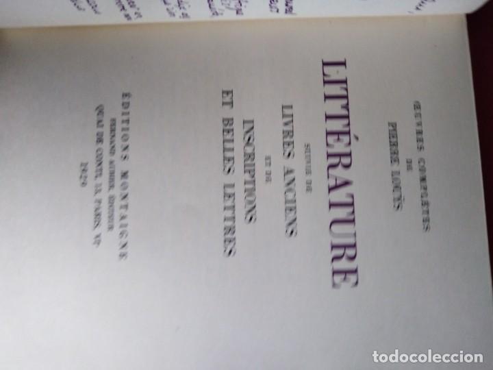 Libros antiguos: EROTICA PIERRE LOUYS LITTERATURE EDITIONS MONTAIGNE PARIS 1929 ED NUMERADA GRABADOS VER FOTOS - Foto 4 - 203029727