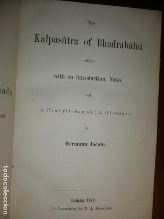 Libros antiguos: THE KALPASUTRA OF BHADRABAHU HERMANN JACOBI 1879 LEIPZIG - Foto 1 - 204103813