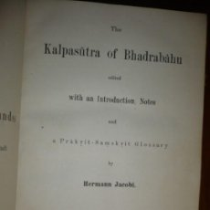 Libros antiguos: THE KALPASUTRA OF BHADRABAHU HERMANN JACOBI 1879 LEIPZIG. Lote 204103813