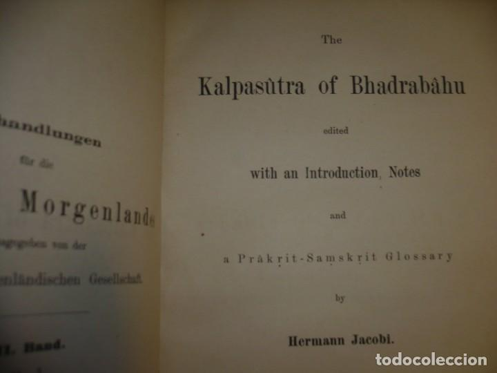 Libros antiguos: THE KALPASUTRA OF BHADRABAHU HERMANN JACOBI 1879 LEIPZIG - Foto 3 - 204103813