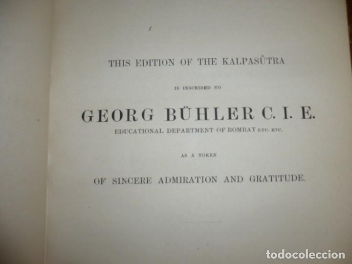 Libros antiguos: THE KALPASUTRA OF BHADRABAHU HERMANN JACOBI 1879 LEIPZIG - Foto 5 - 204103813