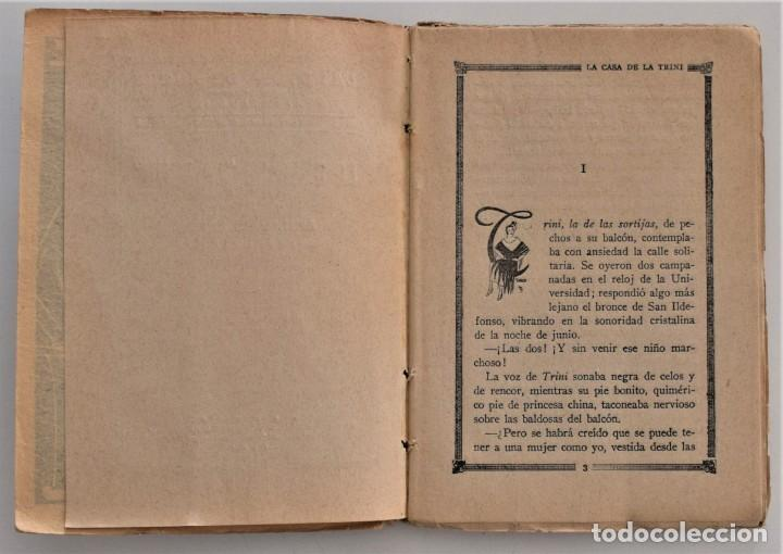 Libros antiguos: LA CASA DE LA TRINI - EMILIO CARRERE - LA NOVELA DE NOCHE Nº 3 - 30 ABRIL 1924 - VARELA DE SEIJAS - Foto 4 - 205283262