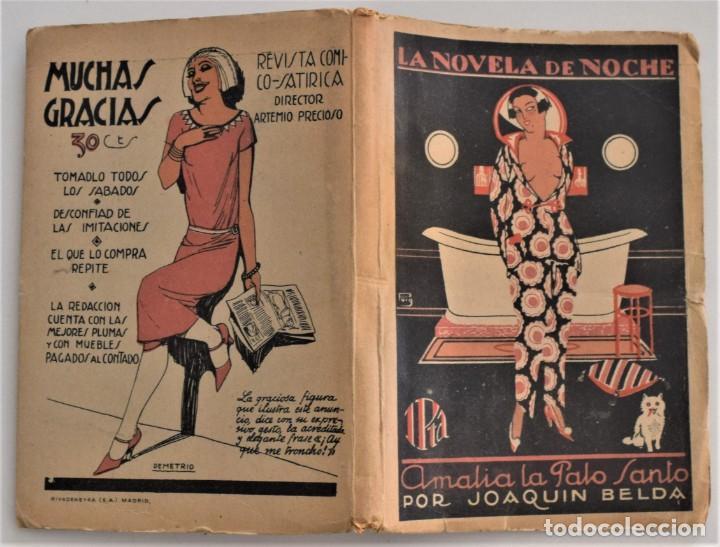 Libros antiguos: AMALIA LA PALO SANTO - JOAQUÍN BELDA - LA NOVELA DE NOCHE Nº 19 - 30 DICIEMBRE 1924 - PUIG - Foto 2 - 205283618