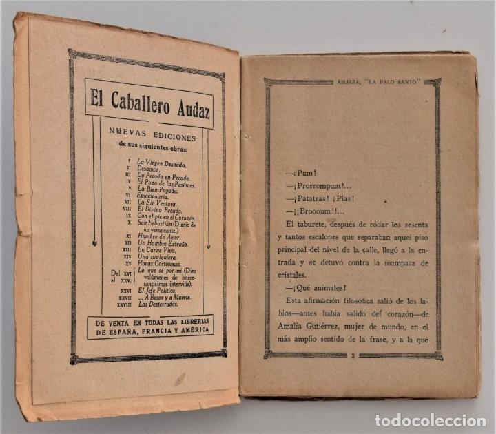 Libros antiguos: AMALIA LA PALO SANTO - JOAQUÍN BELDA - LA NOVELA DE NOCHE Nº 19 - 30 DICIEMBRE 1924 - PUIG - Foto 4 - 205283618