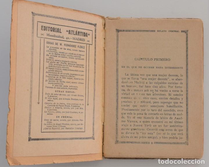 Libros antiguos: RELATO INMORAL - W. FERNÁNDEZ FLOREZ - LA NOVELA DE NOCHE Nº 6 - 15 JUNIO 1924 - DICHI - Foto 4 - 205283906