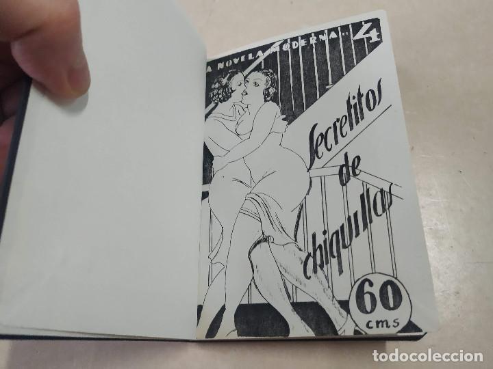 FACSÍMIL - SECRETITOS DE CHIQUILLAS - JUAN AMADOR - LA NOVELA MODERNA Nº 4 (Libros antiguos (hasta 1936), raros y curiosos - Literatura - Narrativa - Erótica)