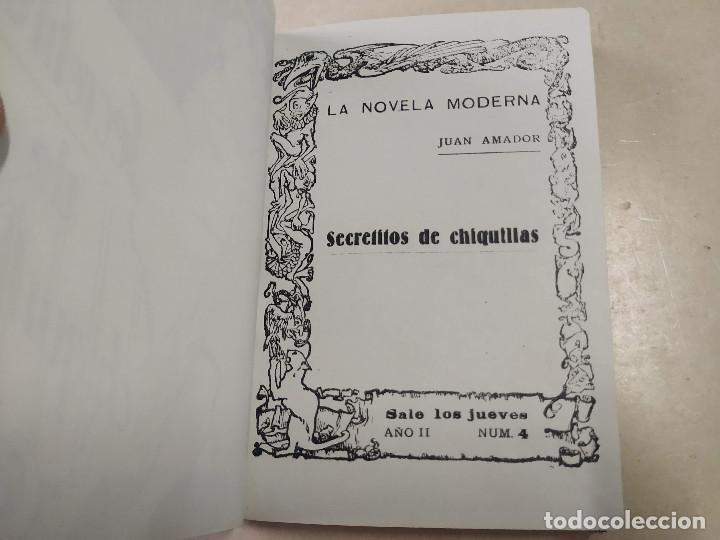 Libros antiguos: FACSÍMIL - SECRETITOS DE CHIQUILLAS - JUAN AMADOR - LA NOVELA MODERNA Nº 4 - Foto 2 - 206263085