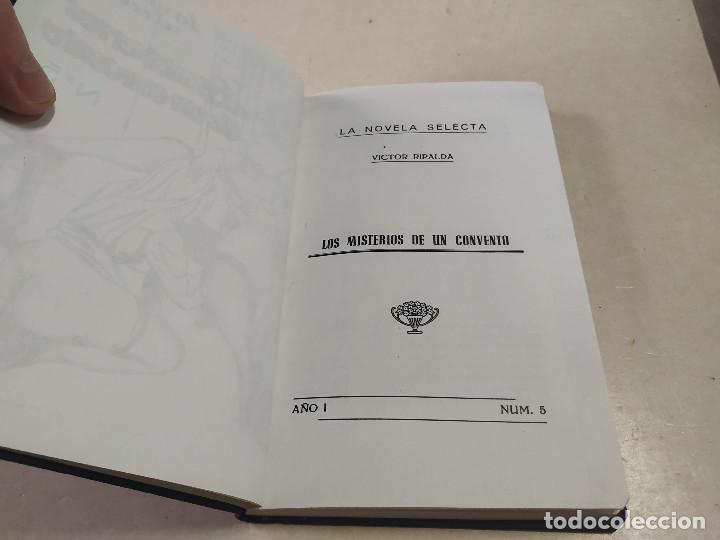 Libros antiguos: FACSÍMIL - LOS MISTERIOS DE UN CONVENTO - VÍCTOR RIPALDA - LA NOVELA SELECTA Nº 5 - Foto 2 - 206263401