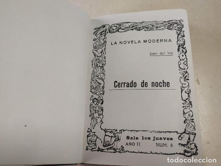 FACSÍMIL - CERRADO DE NOCHE - JUAN DEL VAL - LA NOVELA MODERNA Nº 8 (Libros antiguos (hasta 1936), raros y curiosos - Literatura - Narrativa - Erótica)