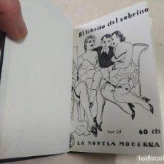 Libros antiguos: FACSÍMIL - EL LIBRITO DEL SOBRINO - VICENTE MORENO - LA NOVELA MODERNA Nº 26. Lote 206265441