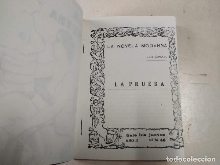 Libros antiguos: FACSÍMIL - LA PRUEBA - LUIS ESPARZA - LA NOVELA MODERNA Nº 46 - Foto 2 - 206266053