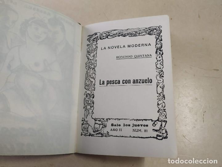 Libros antiguos: FACSÍMIL - LA PESCA CON ANZUELO - ROSENDO QUINTANA - LA NOVELA MODERNA Nº 81 - Foto 2 - 206267308