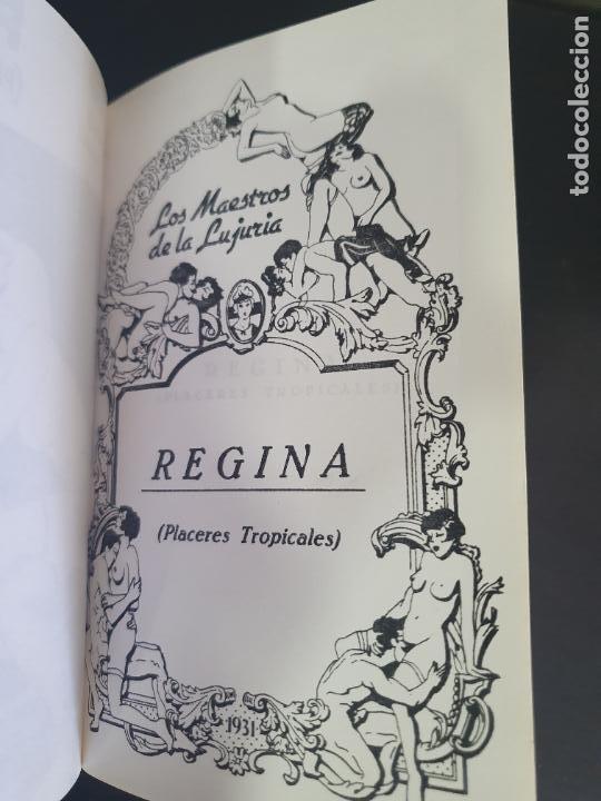 Libros antiguos: NOVELA EROTICA AÑOS 20/30. REGINA ( PLACERES TROPICALES) Reproducciones encuadernadas a mano clandes - Foto 5 - 207181502