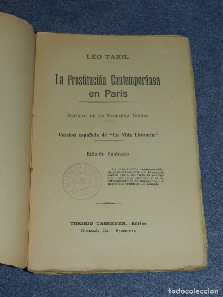 Libros antiguos: (MF) LEO TAXIL - LA PROSTITUCION CONTEMPORANEA EN PARIS, TORIBIO TABERNER EDITOR - Foto 2 - 207850941