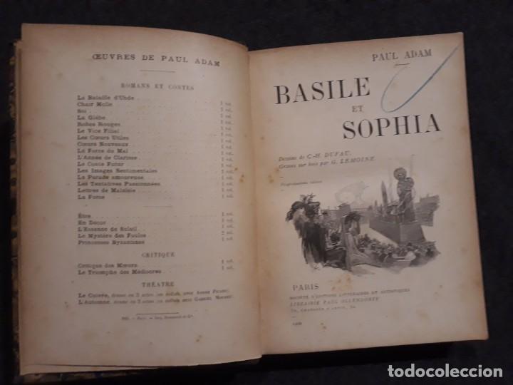 Libros antiguos: BASILE ET SOPHIA. PAUL ADAM DIBUJOS ERÓTICOS DUFAU Y GRABADOS LEMOINE MACEDONIO Fernández - Foto 9 - 208105392
