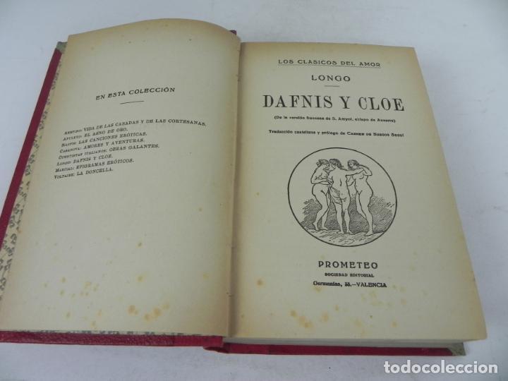 Libros antiguos: DAFNIS Y CLOE (LONGO) / EL SATIRICÓN (PETRONIO) / LA DONCELLA (VOLTAIRE) EN UN TOMO - Foto 4 - 208172753