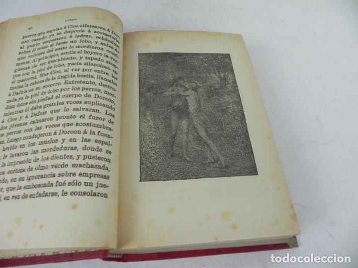 Libros antiguos: DAFNIS Y CLOE (LONGO) / EL SATIRICÓN (PETRONIO) / LA DONCELLA (VOLTAIRE) EN UN TOMO - Foto 5 - 208172753