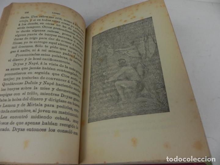 Libros antiguos: DAFNIS Y CLOE (LONGO) / EL SATIRICÓN (PETRONIO) / LA DONCELLA (VOLTAIRE) EN UN TOMO - Foto 6 - 208172753