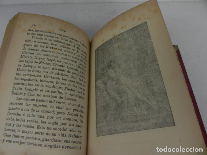 Libros antiguos: DAFNIS Y CLOE (LONGO) / EL SATIRICÓN (PETRONIO) / LA DONCELLA (VOLTAIRE) EN UN TOMO - Foto 7 - 208172753