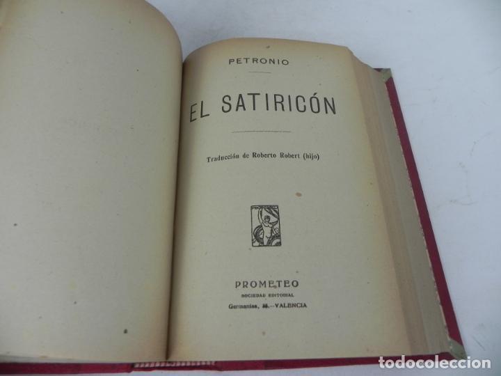 Libros antiguos: DAFNIS Y CLOE (LONGO) / EL SATIRICÓN (PETRONIO) / LA DONCELLA (VOLTAIRE) EN UN TOMO - Foto 9 - 208172753