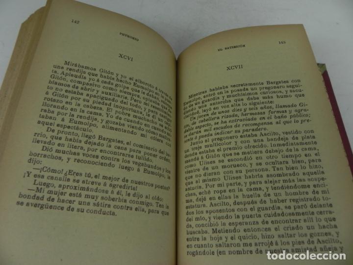 Libros antiguos: DAFNIS Y CLOE (LONGO) / EL SATIRICÓN (PETRONIO) / LA DONCELLA (VOLTAIRE) EN UN TOMO - Foto 10 - 208172753
