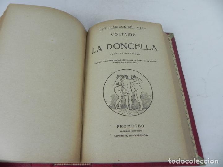 Libros antiguos: DAFNIS Y CLOE (LONGO) / EL SATIRICÓN (PETRONIO) / LA DONCELLA (VOLTAIRE) EN UN TOMO - Foto 12 - 208172753