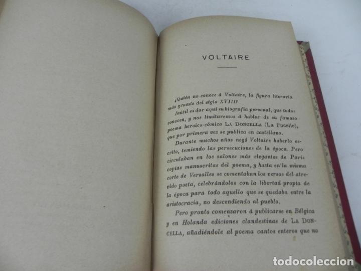 Libros antiguos: DAFNIS Y CLOE (LONGO) / EL SATIRICÓN (PETRONIO) / LA DONCELLA (VOLTAIRE) EN UN TOMO - Foto 13 - 208172753