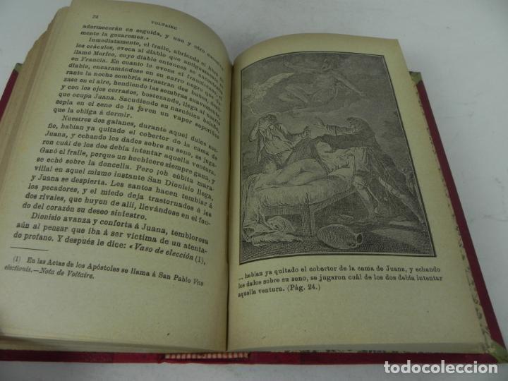 Libros antiguos: DAFNIS Y CLOE (LONGO) / EL SATIRICÓN (PETRONIO) / LA DONCELLA (VOLTAIRE) EN UN TOMO - Foto 14 - 208172753