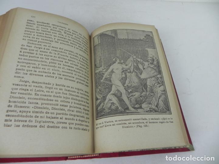 Libros antiguos: DAFNIS Y CLOE (LONGO) / EL SATIRICÓN (PETRONIO) / LA DONCELLA (VOLTAIRE) EN UN TOMO - Foto 16 - 208172753
