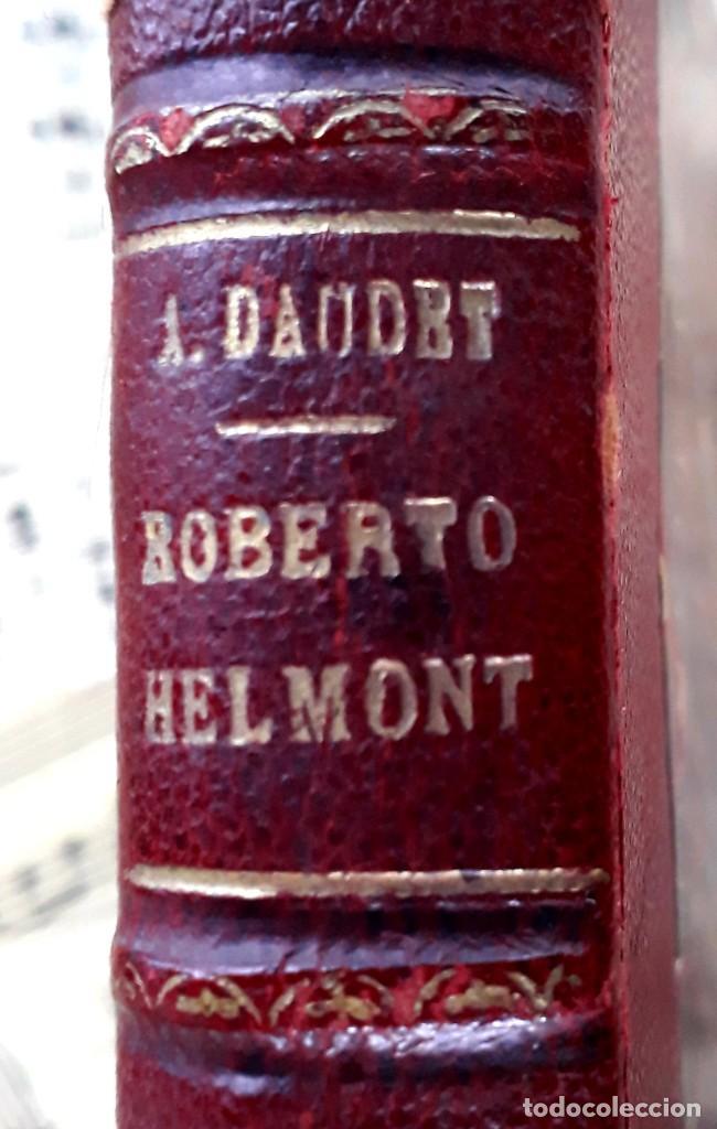 Libros antiguos: A. DAUDET 1889 HELMONT DIARIO DE UN SOLITARIO 115 grabados cromotipias. Bibl. de Macedonio Fernández - Foto 3 - 208178937