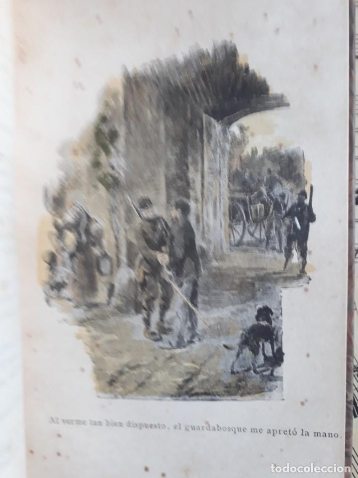 Libros antiguos: A. DAUDET 1889 HELMONT DIARIO DE UN SOLITARIO 115 grabados cromotipias. Bibl. de Macedonio Fernández - Foto 9 - 208178937