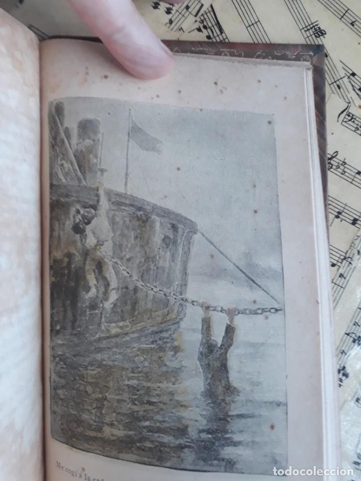 Libros antiguos: A. DAUDET 1889 HELMONT DIARIO DE UN SOLITARIO 115 grabados cromotipias. Bibl. de Macedonio Fernández - Foto 12 - 208178937