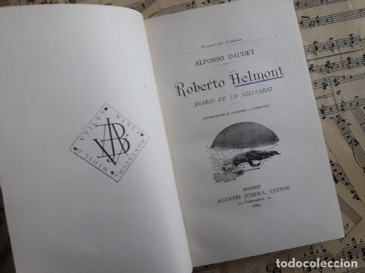 Libros antiguos: A. DAUDET 1889 HELMONT DIARIO DE UN SOLITARIO 115 grabados cromotipias. Bibl. de Macedonio Fernández - Foto 14 - 208178937