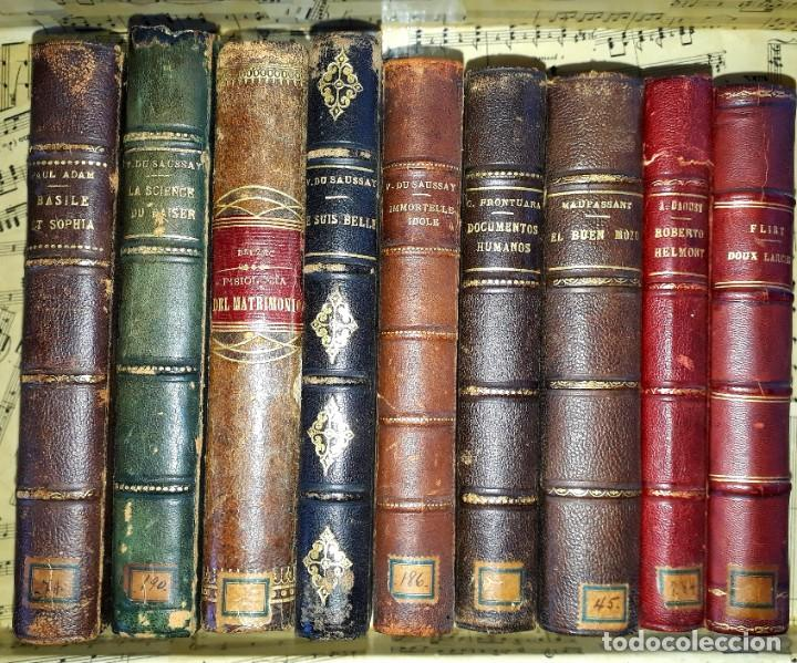 LOTE DE 8 LIBROS DE LITERATURA ERÓTICA PERTENECIENTE A BIBLIOTECA PERSONAL DE MACEDONIO FERNÁNDEZ (Libros antiguos (hasta 1936), raros y curiosos - Literatura - Narrativa - Erótica)