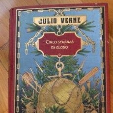 Libros antiguos: L- CINCO SEMANAS EN GLOBO, JULIO VERNE. Lote 208867645