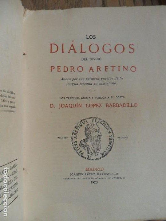 LA LICENCIOSA VIDA DE LAS MONJAS. PIETRO ARENTINO. L. LÓPEZ BARBADILLO. MADRID, 1920 (Libros antiguos (hasta 1936), raros y curiosos - Literatura - Narrativa - Erótica)