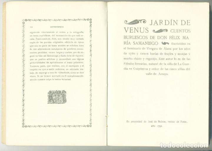 Libros antiguos: JARDIN DE VENUS FÉLIX MARÍA SAMANIEGO. AKAL EDITOR, 1977 - Foto 2 - 208979936