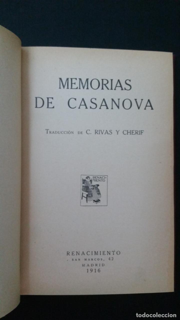 Libros antiguos: 1916 - memorias de casanova traducidas por cipriano rivas cherif - 2 tomos, primera edición - Foto 3 - 216811606