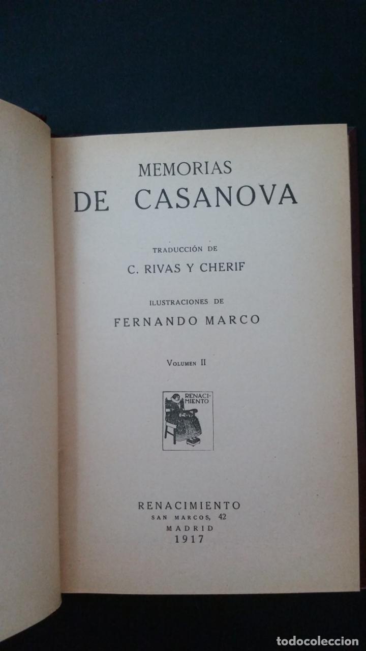 Libros antiguos: 1916 - memorias de casanova traducidas por cipriano rivas cherif - 2 tomos, primera edición - Foto 5 - 216811606