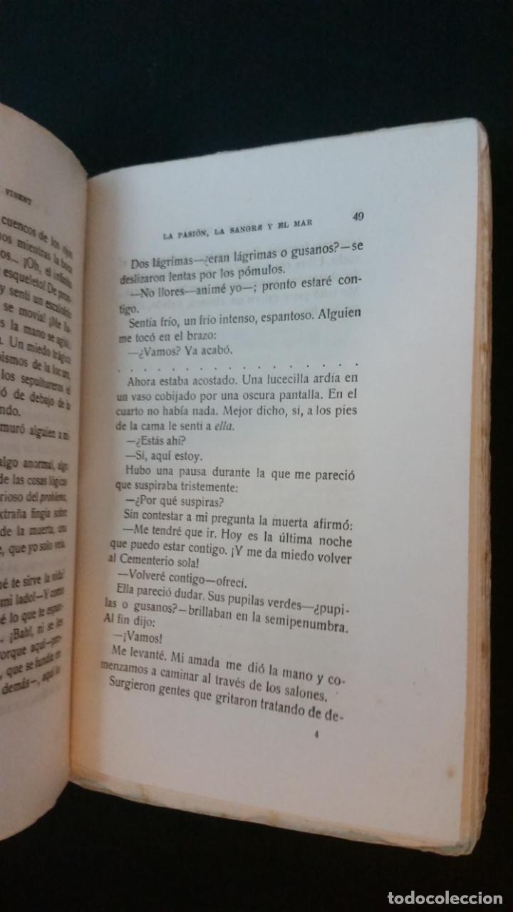 Libros antiguos: 1925 - antonio hoyos y vinent - La pasión, la sangre y el mar - 1ª ed. - Foto 3 - 217040368