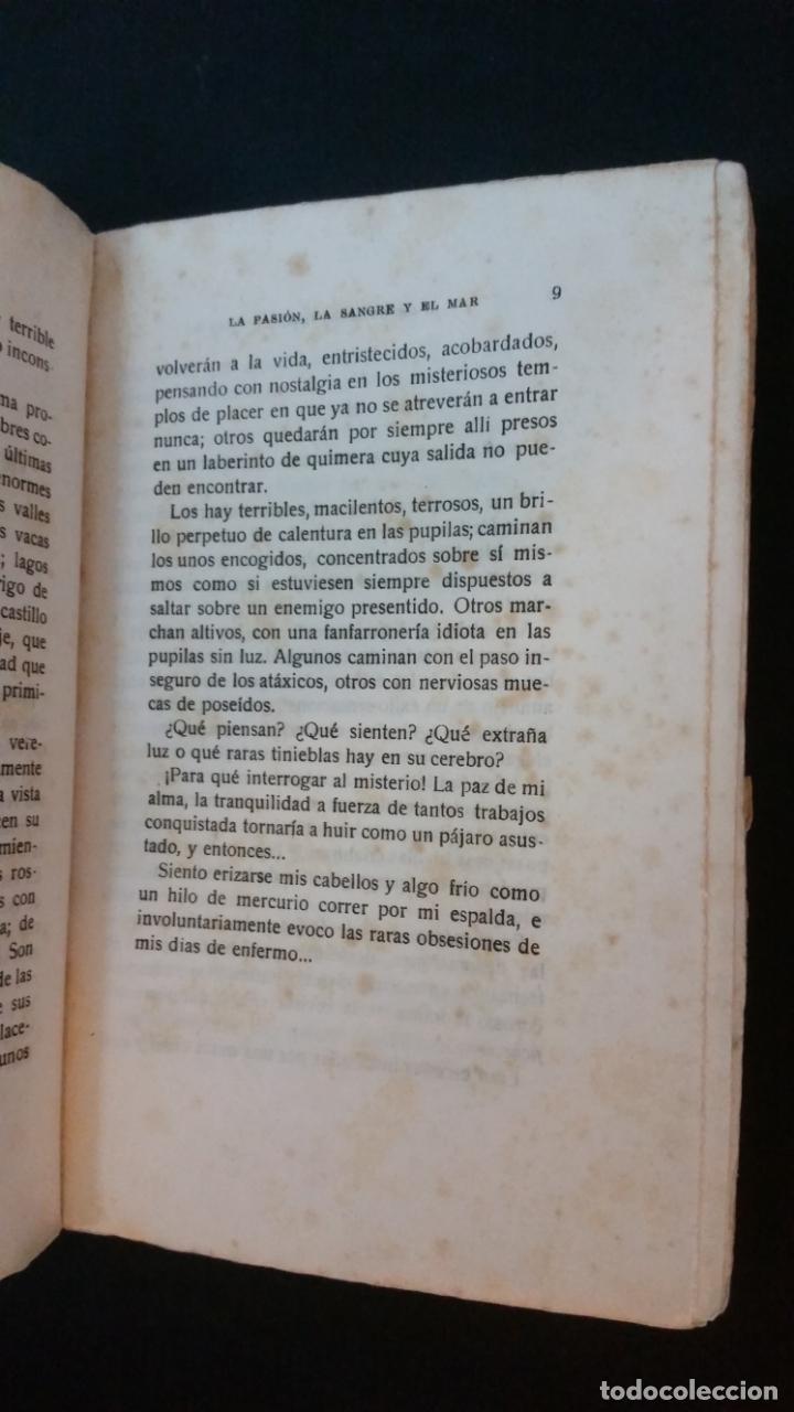 Libros antiguos: 1925 - antonio hoyos y vinent - La pasión, la sangre y el mar - 1ª ed. - Foto 4 - 217040368