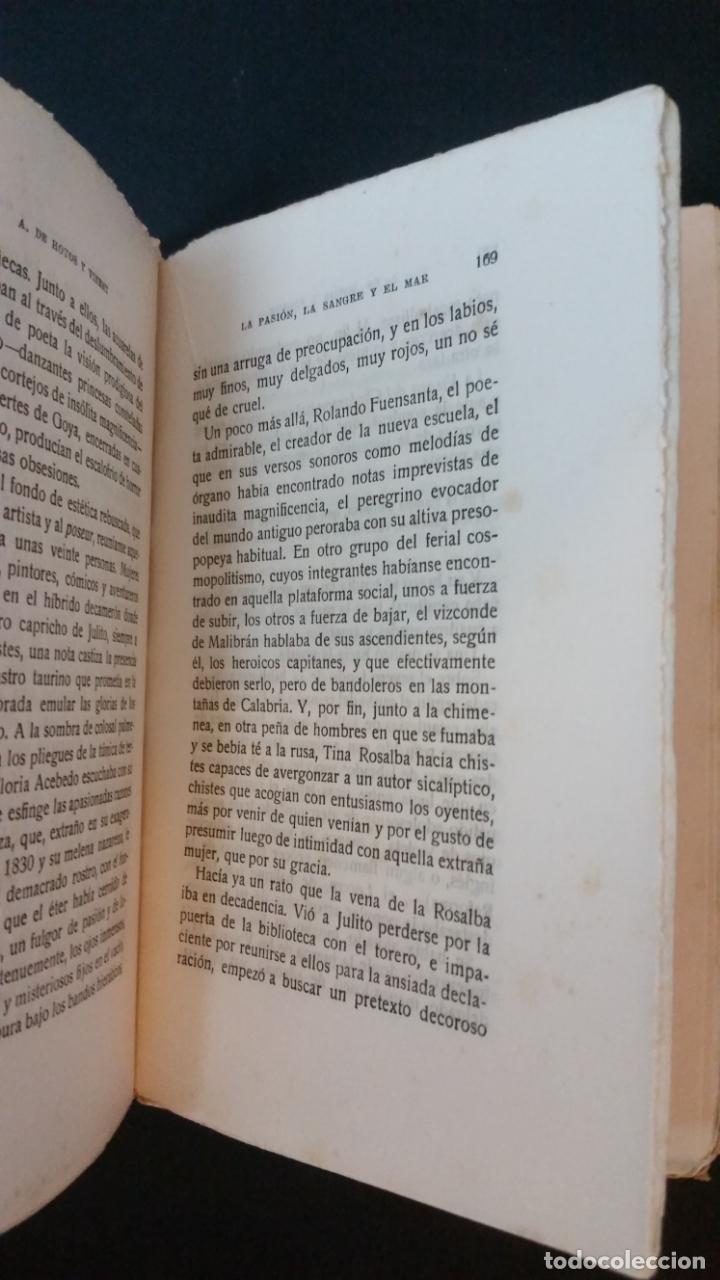 Libros antiguos: 1925 - antonio hoyos y vinent - La pasión, la sangre y el mar - 1ª ed. - Foto 5 - 217040368