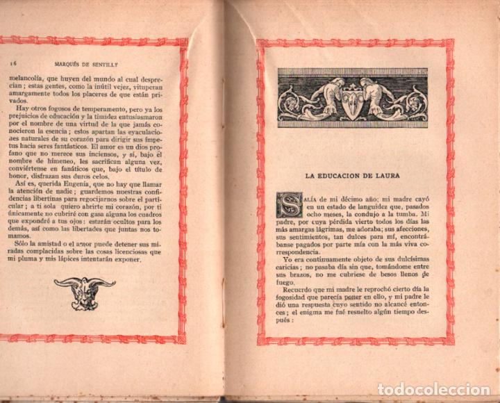 Libros antiguos: MARQUÉS DE SENTILLY : LA EDUCACIÓN DE LAURA (CURIOSOS Y EXQUISITOS, 1934) - Foto 2 - 39631509