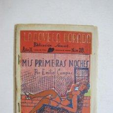Libros antiguos: LA NOVELA DORADA-MIS PRIMERAS NOCHES-EMILIOL CAMPOS-DIBUJOS VICENTE MAJO-EROTICA-VER FOTOS-(K-721). Lote 221611948