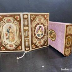 Libros antiguos: PRECIOSA ENCUADERNACIÓN PANADERO, ALBACETE. PERGAMINO PINTADO Y LACADO, CORTES, CAJA, GUARDAS.... Lote 225275356